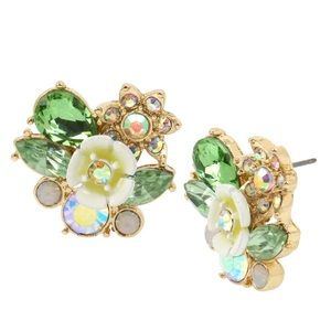 Betsey Johnson Flower Cluster Stud Earrings
